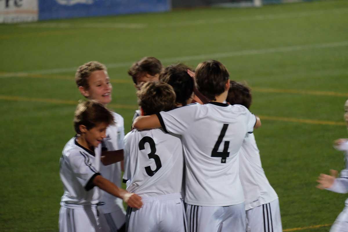 11 goles a favor del Infantil B, 0 en contra